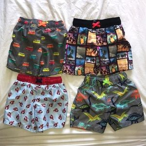 4 pairs of boys Swim Trunks